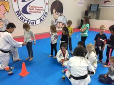 Stripes earned and awarded today!! Great job day campers   www.glenmoremartialarts.com 250-868-8690  #promotion #belt #awards #congrats #martialarts #glenmoremartialarts #kelowna #glenmore #daycamp #springbreak