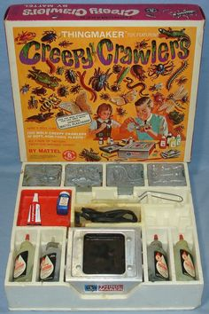 1964 Vintage Mattel Thingmaker Toy Creepy Crawlers - this was one of my all time favorite toys. My Childhood Memories, Childhood Toys, Great Memories, 1960s Toys, Retro Toys, Vintage Toys 1960s, 1970s Dolls, Vintage Cups, Vintage Avon