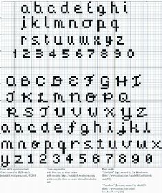 Cross Stitch Embroidery Free Two tiny cross stitch alphabets Cross Stitch Letter Patterns, Cross Stitch Numbers, Cross Stitch Letters, Cross Stitch Boards, Cross Stitch Designs, Cross Stitch Font, Stitch Patterns, Alphabet A, Script Alphabet