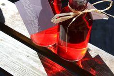 basil vinegar (with african blue or purple basil)