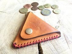 Coin Purse leather coin purse change purse leather by Macgeek13