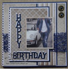 Happy Birthday Man, Happy Birthday Images, Happy Birthday Greetings, Masculine Birthday Cards, Masculine Cards, Happy Anniversary, Anniversary Cards, Boy Cards, Marianne Design