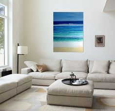 Abstract Seascape Painting Original Acrylic by MhariArtStudio