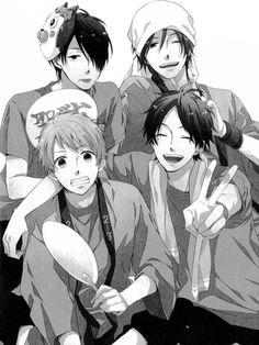 Hashiba Natsuki, Naoe Tsuyoshi, Katakura Keiichi y Matsunaga Tomoya ~ Nijiiro Days (Comedia, Romance, Recuentos de la vida, Shoujo, Anime Invierno 2016)