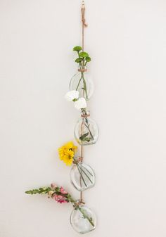 Suspension of Disbe-leaf Vase Set (Could easily make this--maybe even with vintage bottles and hang outside!!! oooooh! excited!)