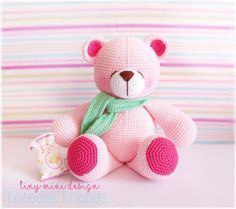 Amigurumi Pembe Ayıcık-Amigurumi Pink Bear