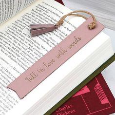 Personalised Italian Leather Bookmark