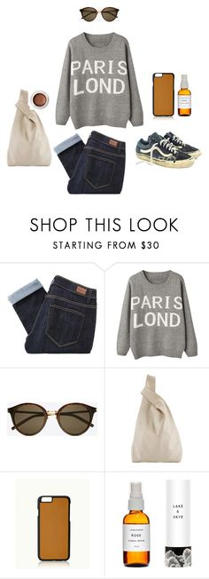 """""""Saint Laurent Classic 57 Sunglasses"""" by jzanzig ❤ liked on Polyvore featuring Paige Denim, Yves Saint Laurent, Hayward, GiGi New York and rms beauty"""
