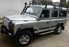 My Land Rover Defender 110 with its new winch