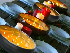 Multi-wick indoor and outdoor candles in a reusable ceramic vessel.