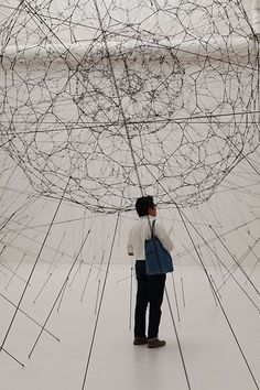 TOMÁS SARACENO • Galaxies Forming Along Filaments, Like Droplets Along The Strands Of A Spider's Web • 2009 • http://www.tomassaraceno.com