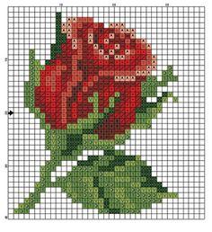 diagram for pixel blankets or crochet cross stitch! Beaded Cross Stitch, Cross Stitch Rose, Crochet Cross, Cross Stitch Flowers, Cross Stitch Embroidery, Crochet Pattern, Crochet Stitches, Beading Patterns, Embroidery Patterns