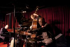 """The trio of Albert """"Tootie"""" Heath (drums), Ben Street (bass) and Ethan Iverson (piano) perform at the Village Vanguard."""