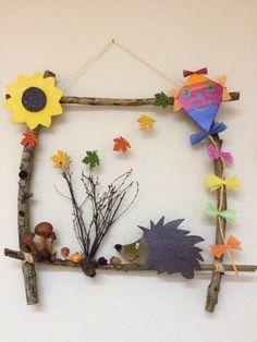 Bastelidee für den Herbst // #bastelnmitkindern #basteln | Kreatives | Pinterest | Craft, Kindergarten and Autumn