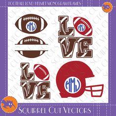 Footballs Football love Football Helmet by SquirrelCutVectors