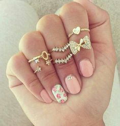 Gold and Pink Ring Accessories