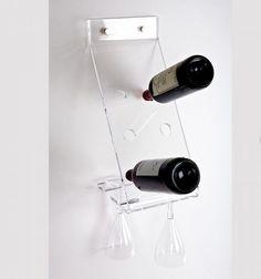 Portabottiglie Equilibrio di designtrasparente.