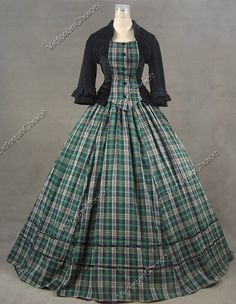 Civil War Day Dress. This would be so cool if I could get it in my Scottish Clan colours