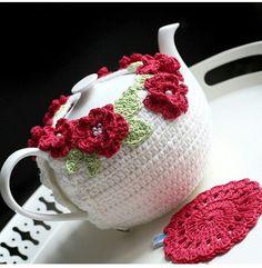 Crochet Cup Cozy, Crochet Art, Crochet Patterns, Knitting Patterns, Tea Cosy Knitting Pattern, Frozen Crochet, Crochet Potholders, Quick Knits, Tea Cozy