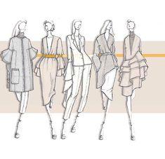 Ideas Fashion Ilustration Ilustraciones De Moda For 2019 Fashion Design Sketchbook, Fashion Design Portfolio, Fashion Design Drawings, Fashion Sketches, Mode Portfolio Layout, Mode Collage, Fashion Illustration Dresses, Fashion Illustrations, Fashion Illustration Portfolio