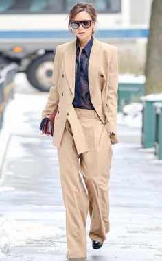 Camel Couture: Victoria Beckham's Street Style