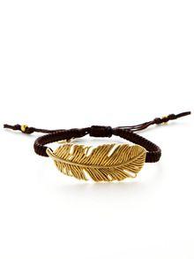 Textured Leaf Charm Bracelet by Tai Jewelry at Gilt