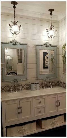 Vintage Bathrooms, Chic Bathrooms, Master Bathrooms, Dream Bathrooms, French Country House, French Country Decorating, Country Chic, Country Heat, French Cottage