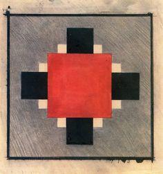 Ilya Chashnik - Red square and cross (c. 1928)