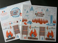 Promo piece for Swink printed by Studio on Fire