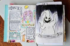 Last year I was very inspired after I realized I could draw what I saw and I took it to my next level following the prompt of that time I don't know why but I really like to draw/copy scary or creepy things. Anyway my #tbt for today is this page at the end of Oct. 2016 as you can see there is a typo but well I can't be always perfect :P ... I kinda miss that #fantasticpaper #notebook I haven't been able to find another one :( (><)                     #stationeryaddict #art #ほぼ日 #washitape…