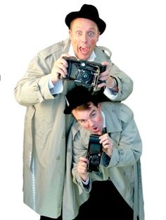 Paparazzi themed comedy mime artist and street entertainers in London and the UK.