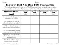 This check-list is a great self-assessment for students to review their reading comprehension strategy use. The items on the list make students think about specific strategies that they've used and how often they've used it. This is good not only for assessment but is also an opportunity for children to be metacognitive, which is suggested in the 7 Strategies article also pinned here. (A)