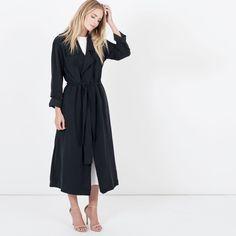 Modern Citizen  |  Cara Wrap Trench Coat (Black) $118