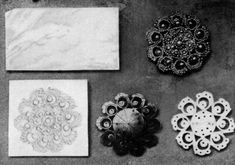 Steps in the production of a seed pearl brooch - Victorian Era