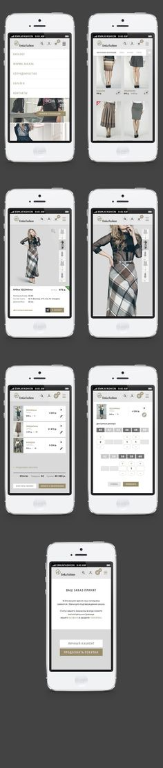 Emka Fashion by Dmitry Zyuzin, via Behance #fashion #ecommerce #mobile