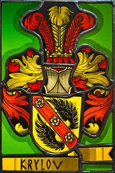 Familienwappen- Krylov-Wappenscheiben - GLASART - Das Atelier für Glasmalerei und Heraldik in der Schweiz- Google- suche