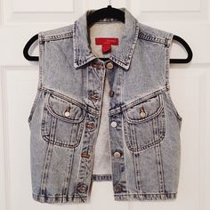 Vintage Jean Vest Mini jean vest. The perfect vintage piece for your closet! Jackets & Coats Vests