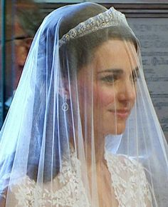 The Cartier halo tiara worn by Kate at her wedding.