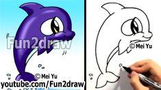 fun2draw dolphin | Fun2draw Sea Animals