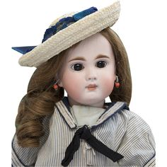 "15"" (38 cm) Rare Antique Beautiful German Bisque Closed Mouth Child Doll,137,by Mystery Maker"