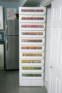 DecoArt Blog - NA - Craft Paint Storage Ideas