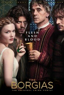 The Borgias is a 2011 historical fiction cinematic television series created by Neil Jordan.  The series is based on the Borgia family, an Italian dynasty of Spanish origin, and stars Jeremy Irons as Pope Alexander VI with François Arnaud as Cesare, Holliday Grainger as Lucrezia, David Oakes as Juan and Aidan Alexander as Gioffre Borgia. Derek Jacobi and Colm Feore also star as Cardinals Orsini and Cardinal della Rovere.