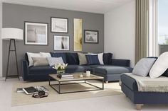 Stor stue Family Room, Sweet Home, Couch, Architecture, Places, Living Rooms, Furniture, Families, David