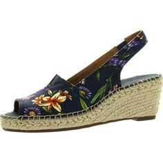 67d10604b Clarks Women s Petrina Rhea Espadrille Sandals New Navy 9.5 ( 75) ❤ liked  on Polyvore featuring shoes