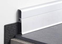Aluminum baseboard BATTISCOPA BIM PROFILITEC