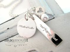 Hand Stamped Necklace . Hand Stamped Personalized by BragAboutIt