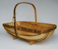 Sussex Style Trug Basket trug garden trug by CottageCoppicing #Cavetsy #Etsy #Handmade