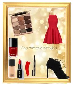 """año nuevo o navidad"" by rositat on Polyvore featuring Chi Chi, Yves Saint Laurent, Chanel, MAC Cosmetics, Stila and Smith & Cult"