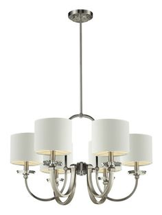 White 6 Light Chandelier by Nulco on Gilt Home