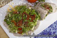 Wrap de Tapioca com Linhaça » Receitas Saudáveis, Sanduíches » Guloso e Saudável